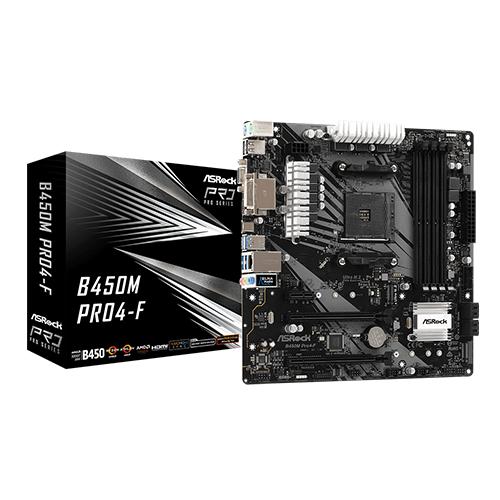 Asrock B450M Pro4-F AMD Motherboard